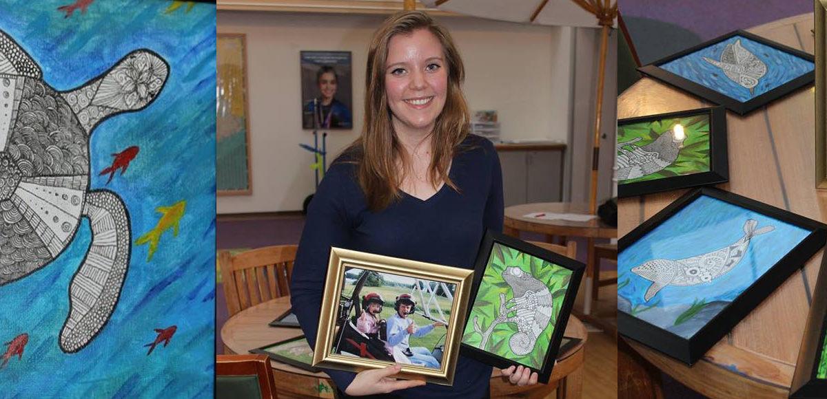 Kenzey Tracy '18 donates art to EMMC