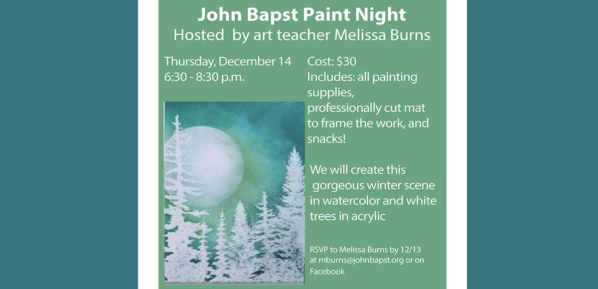 John Bapst Paint Night